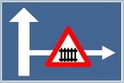 indicator rutier Presemnalizarea unui loc periculos o interzicere sau o restrictie pe un drum lateral